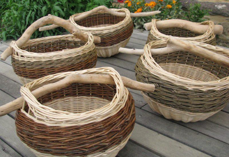 corbeilles paniers boule et branche