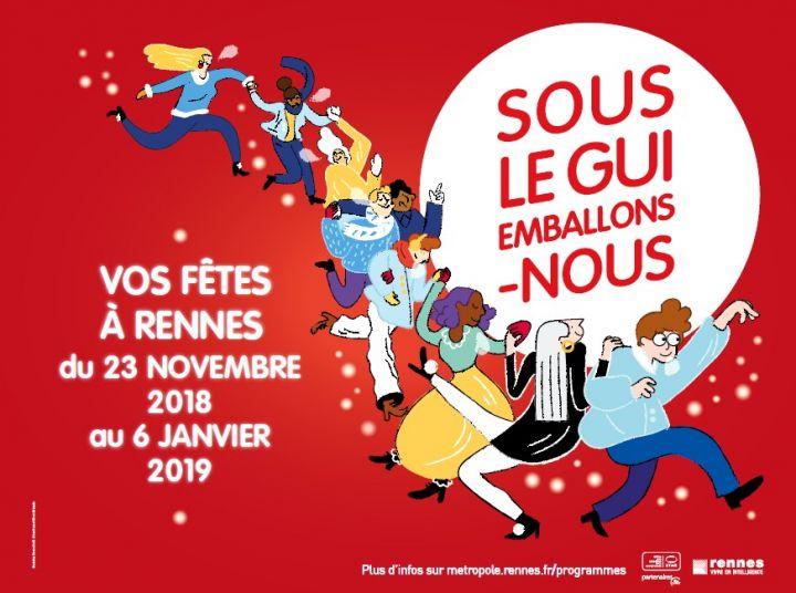 festivités de Noël à Rennes