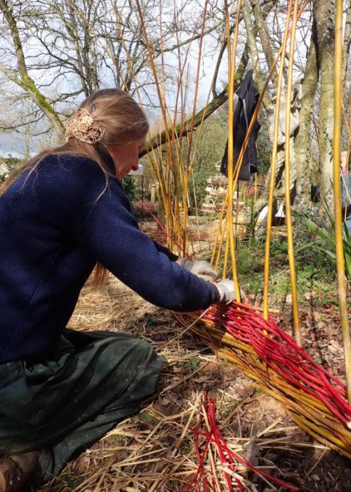 """chantier participatif haie """"vagues"""", jardin de la Levrette"""